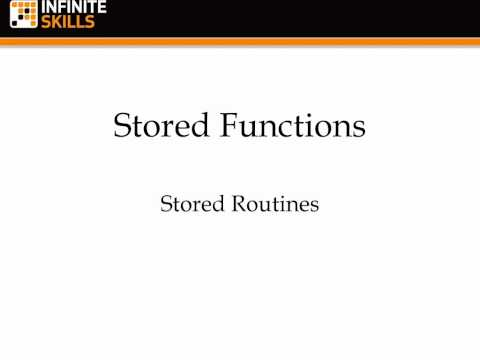 MySQL 5 Tutorial | Stored Functions