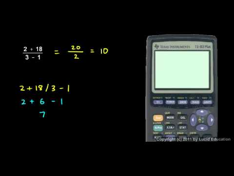 Prealgebra 2.07e - Using a Calculator.