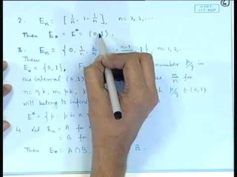 Mod-01 Lec-01 Algebra of Sets - I
