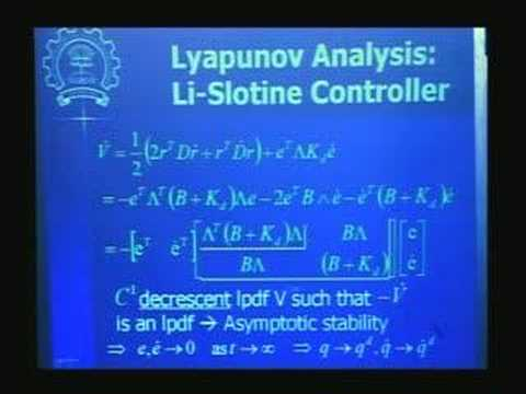 Lecture - 36 Robot Dynamics and Control