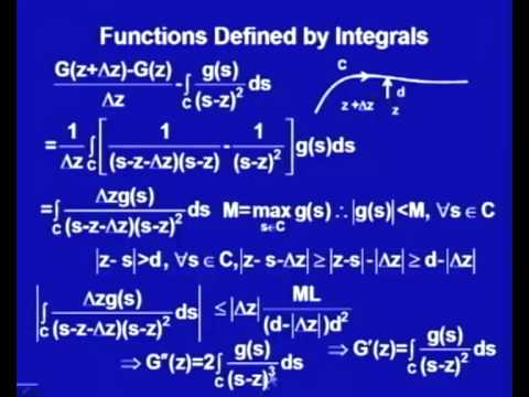 Mod-1 Lec-5 Application of Cauchy Integral Formula