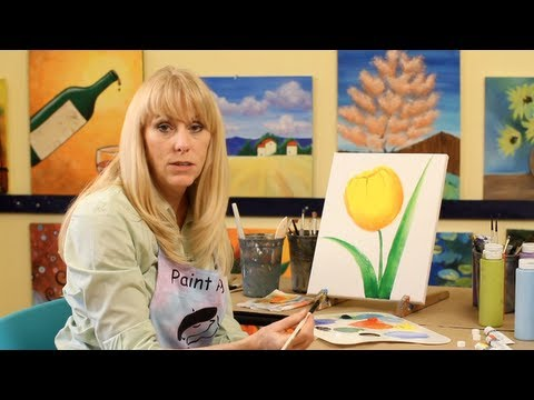 How to Paint with Acrylic Paint: Tulip