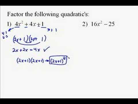 A110.12 Factoring Quadratic Expressions
