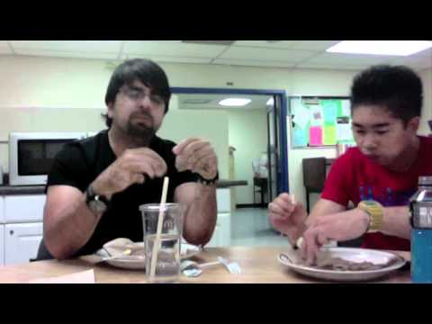 "Sean & Mr. P try ""Balut"" prepared by Dani & Judy"