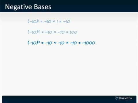 GMAT Prep - Math - Algebra - Negative Bases by Knewton