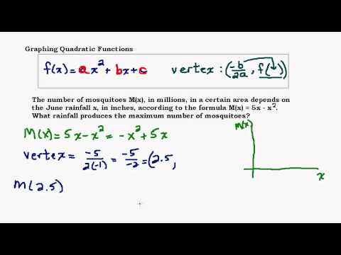 Graphing Quadratic Functions Part 4 - Max and Min Application