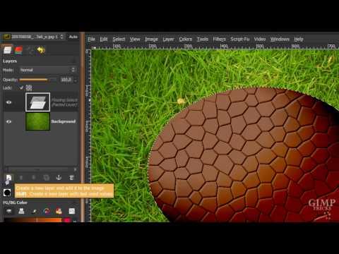 GIMP tutorial- Make a realistic Easter egg in GIMP