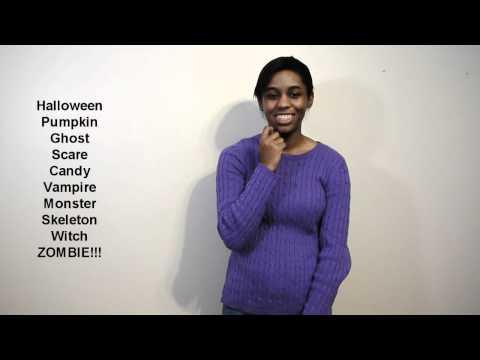 Sign Language 101: Halloween Edition