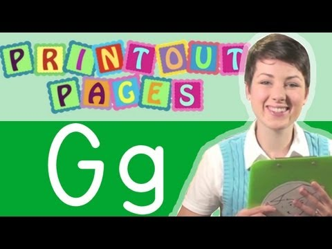 Learn to write letter G with Ms. Victoria, Learn the alphabet with Printout Pages on TinyGrads