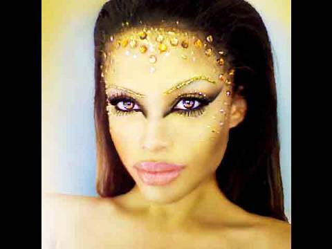 Golden Goddess Costume Makeup