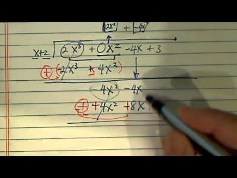 Long Division: 2x^3-4x+3/x+2
