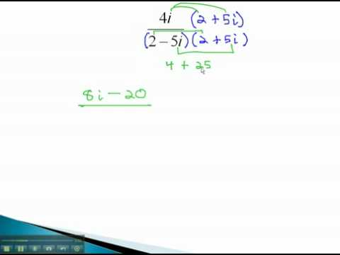 Complex Numbers - Rationalize Binomials