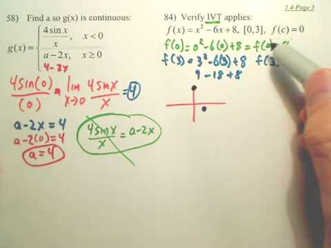 1.4c Continuity and One-Sided Limits - Calculus