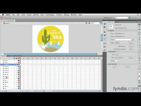Organizing and editing layers in Flash | lynda.com tutorial
