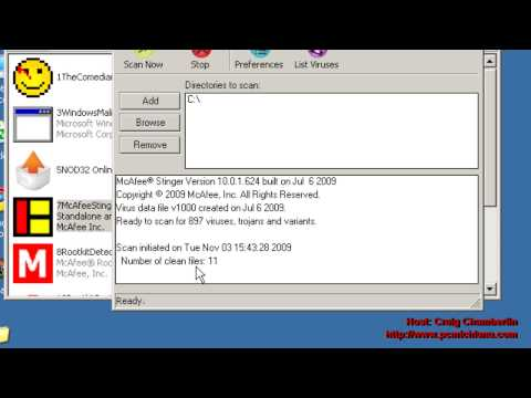 Virus Removal Ep. 9: Run the McAfee Stinger Virus Removal Tool Properly
