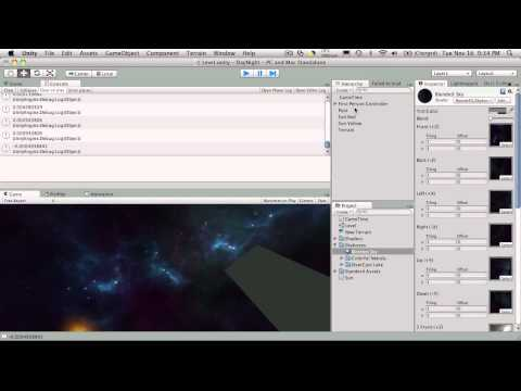 77. Unity3d Tutorial - Day Night Cycle Part 6