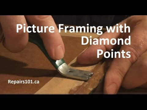 Picture Framing with Diamond Points