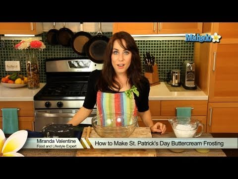 How to Make St. Patrick's Day Buttercream Frosting
