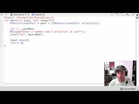 Objective C Programming Tutorial - 13 - scanf and increment operators