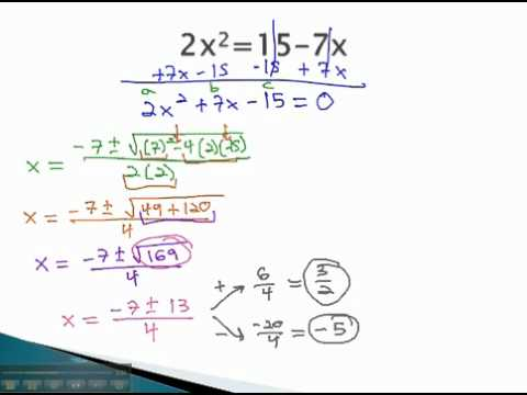 Quadratic Formula - Make Equal to Zero - YouTube.mp4