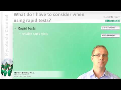 What do I have to consider when using rapid tests?