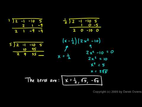 Algebra 2  6.07g - Rational Zeros Theorem, Part 7