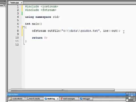 C++ Tutorial - Creating a Text File