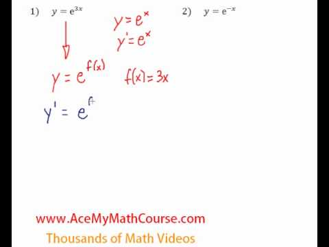 Derivatives of Exponential Functions - Questions #1-2