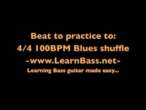 Beat to practice to:  4/4 100BPM Blues shuffle