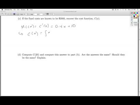Applied Calculus Checkpoint Quiz 02 Part 1 of 2