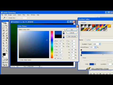Photoshop gradient tool part 2