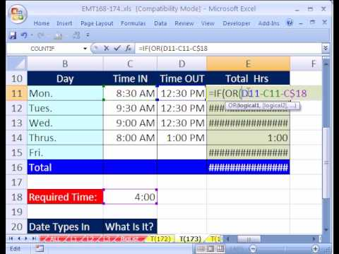 Excel Magic Trick #173: Time Over or Under (Negative Time)
