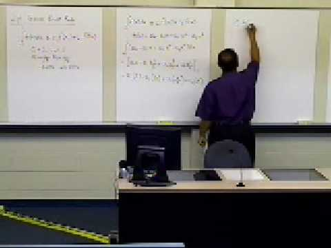 Guass Quadrature Rule Two Point Rule: Complete Derivation: Part 1 of 3