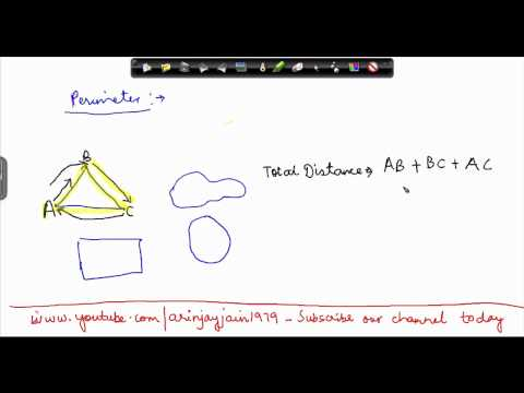 142-CBSE Class VI Maths,  ICSE Class VI Maths -  Concept of Perimeter in Mathematics