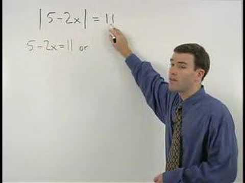 Absolute Value Equations - YourTeacher.com - Algebra Help