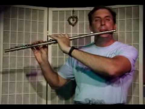 Flute Lesson: How to play a A Major Chord with Arpegio