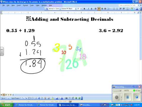 CJH Adding and Subtracting Decimals  2