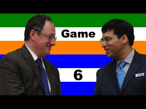 Game 6: Gelfand vs. Anand - 2012 FIDE World Chess Championship