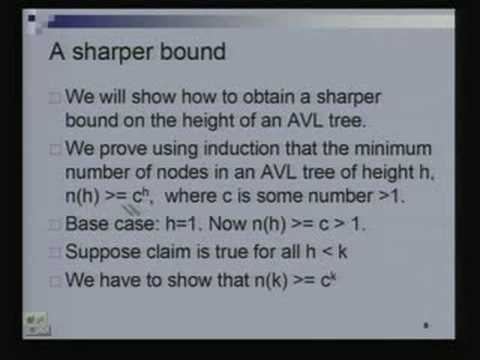 Lecture - 11 AVL Trees