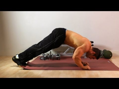Downward Dog Push Up | Home Arm Workout for Men