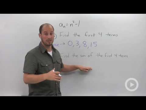 Algebra 2 - Series and Summation Notation