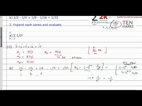 Summation Notation and Evaluation of Series