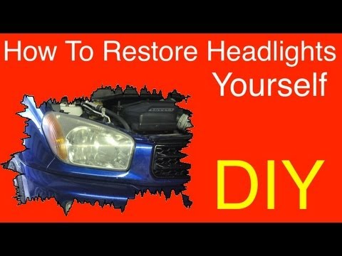 How To Restore Headlights - Headlight Restoration From Home