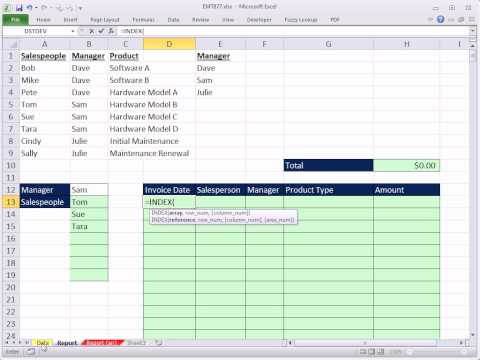 Excel 2010 Magic Trick 877: Manager Sales Rep Report: OR Criteria Formula To Extract Records