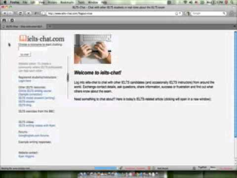 Chat with IELTS instructors and other students online