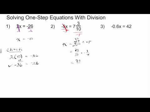 Solving One Step Equations with Division | Algebra 1 How To
