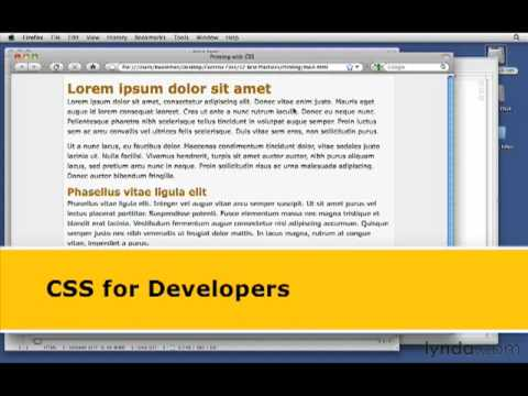 lynda.com Podcast Episode 189: CSS for Developers