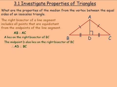 Investigate Properties of Triangles