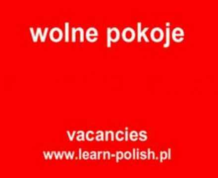 "How do you say ""vacancies"" in Polish ?"