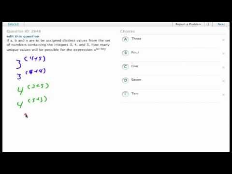 Grockit SAT Math - Multiple Choice: Question 2848